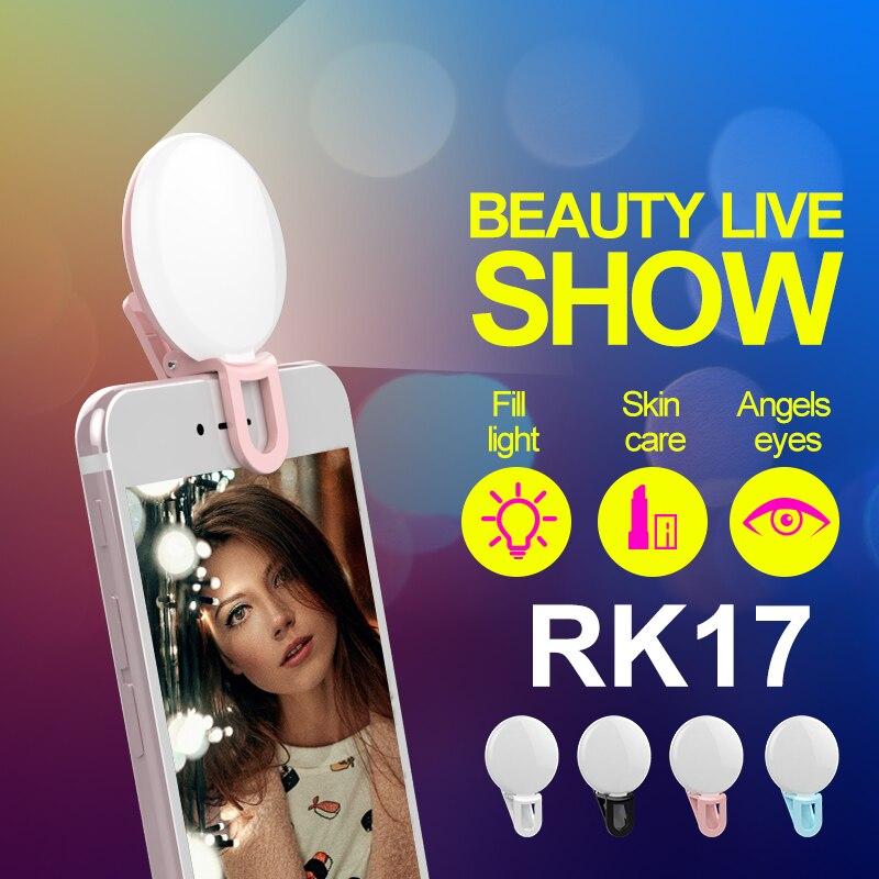 Univerzalna LED lučka Selfie RK17 LED lučka za polnjenje 9 kosov - Kamera in foto - Fotografija 1