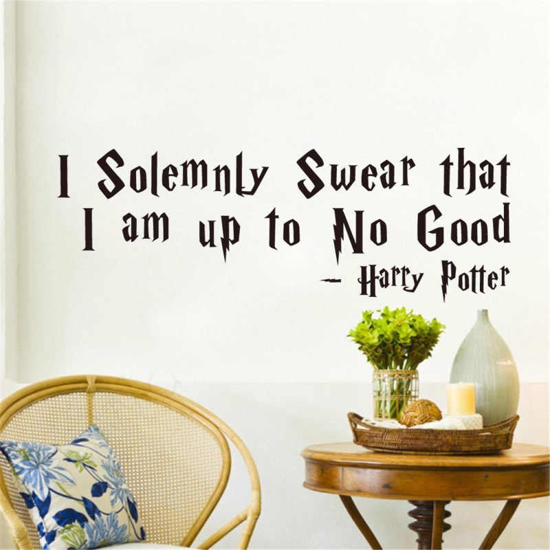 I Solemnly Swear That I Am Up To No Good - Harry Proverbs Quote Vinyl Wall Sticker for Living Room Home Decor Decals