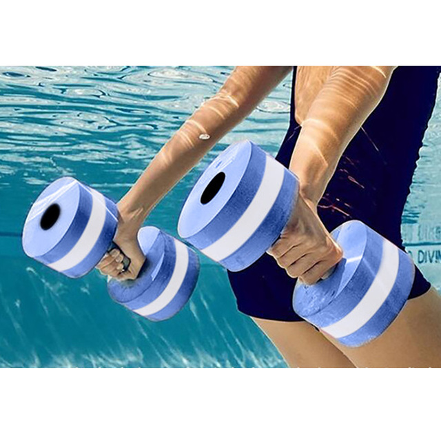 308869a5677 Brand New EVA Floating Dumbbell Water Aerobics Aquatic Barbell Swimming Water  Yoga Durable Sport Fitness Exercise Equipment