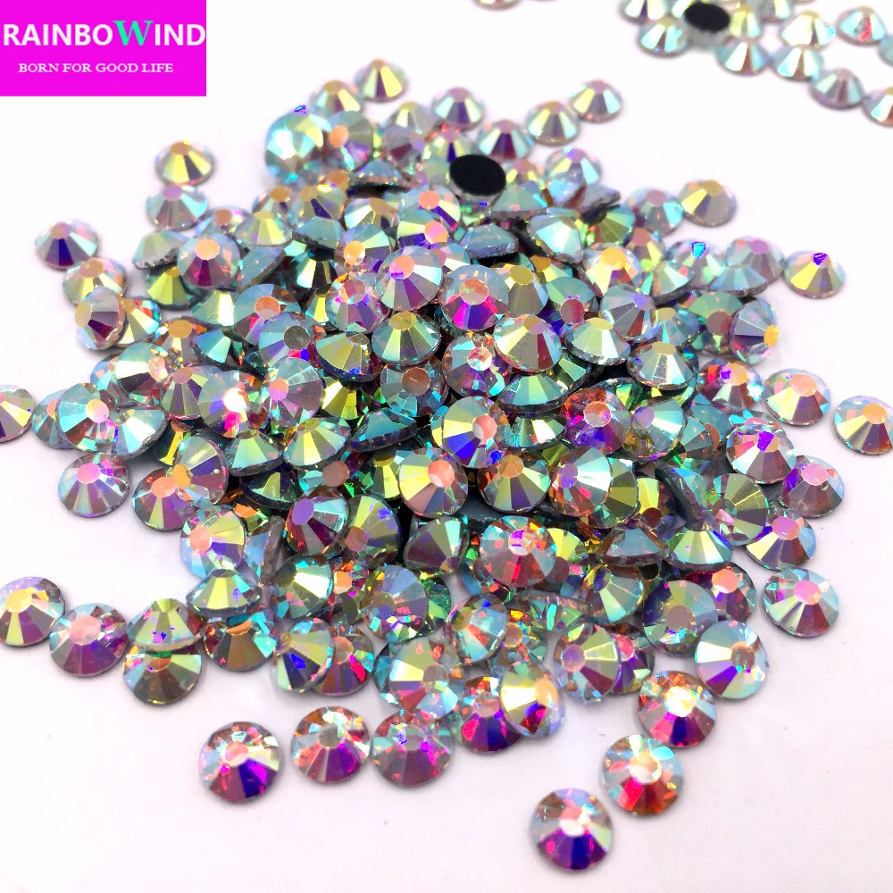 Crystal AB SS20 1440pcs/bag DMC Hot Fix Rhinestone Crystal Flatback Loose Strass Rhinestone for clothes bags nail accessaries