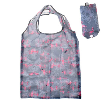 1pc Nylon Folding Portable Shopping Handbags Holiday Laundry Bags Flamingo Animal Reusable Large Women Shoulder Shopping Bags Shopping Bags