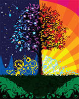 Hand Painted Rich Tree Frameless Pictures Painting By Numbers DIY Digital Oil Painting On Canvas Christmas