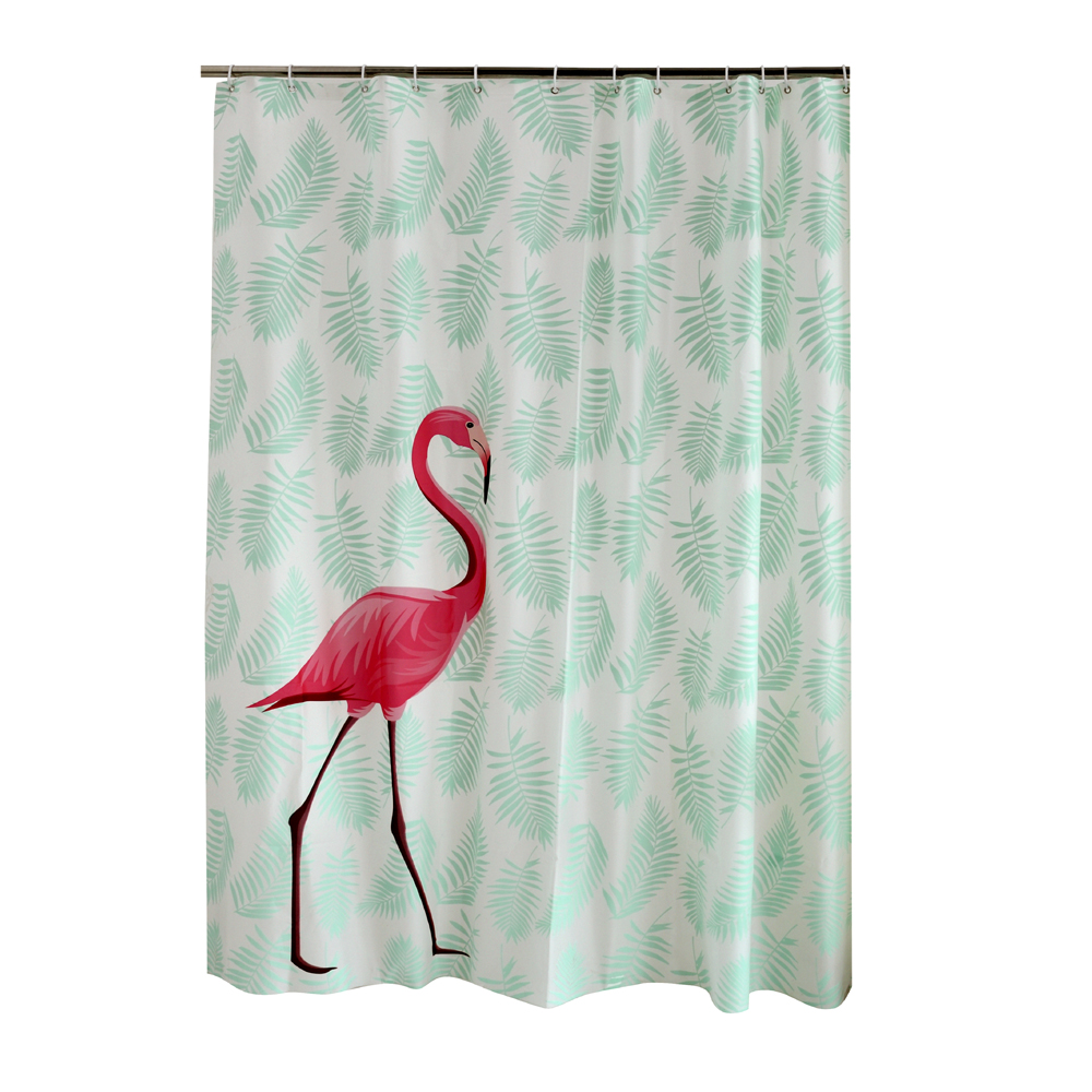 PEAV Plastic Red Flamingo Waterproof Shower Curtain Thicken Frosted Bathroom Curtains 180 Cm 200 In From Home Garden On