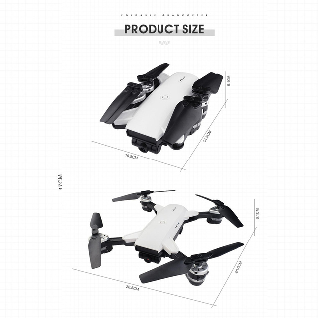 19HW RC Selfie Drone With 0.3mp/2mp HD WIFI FPV  Camera 6-Axis RC Helicopter Real Time Quadcopter vs Visuo XS809HW Eachine E58 3