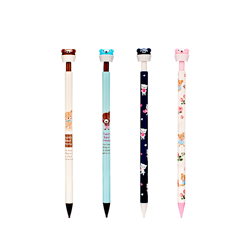 4 Pcs/lot Cute Kawaii 0.5mm Aihao Bear Animal Mecanical Pencils Office School Kids Supplies Stationery