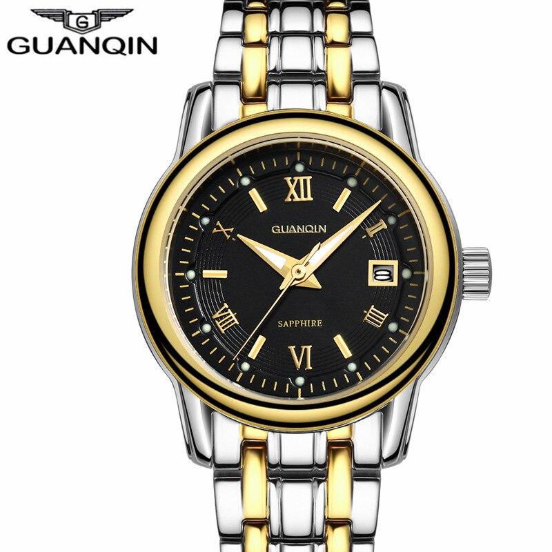 402f2211 GUANQIN 2018 Лидер продаж Модные кварцевые часы Женское платье Элитный  бренд водостойкий золотой браслет наручные montre