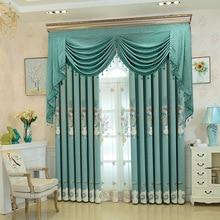 European and American style luxury modern villa high-end apartment living room floor window curtain custom-made Sheer