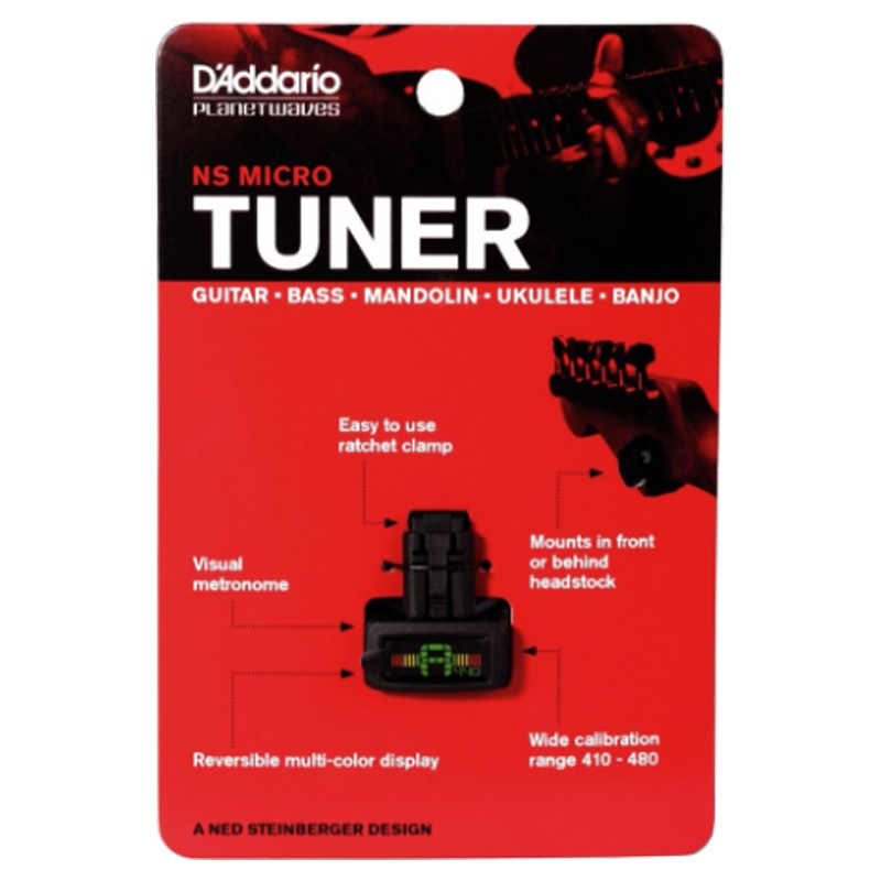 D'addario Daddario Planet Waves PW-CT-12 NS Mini Headstock Clip - Muziekinstrumenten - Foto 3