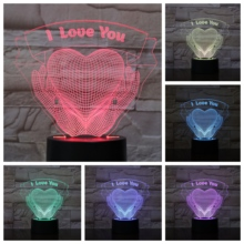 I Love You Heart Hands 3D LED Lamp bedside gece lambasi Lampara RGB Boy Child Kids Birthday Gifts USB Night Light