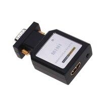 HDMI Para VGA Ypbpr Conversor De Áudio Mini HDMI Para VGA Ypbpr SPDIF Conversor De Áudio Adaptador Mini HDMI para VGA