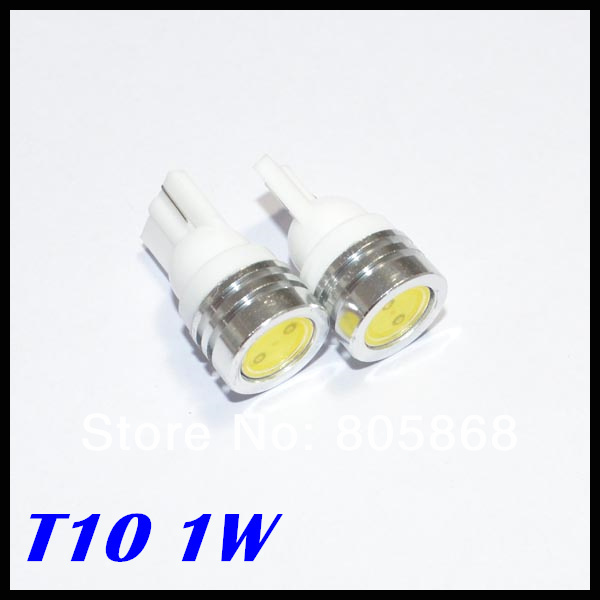 100pcs T10 1w 194 168 Smd High Power Led W5W 1W Car Light Bulbs Clearance Light Parking Light Indicator Reading Lamp White