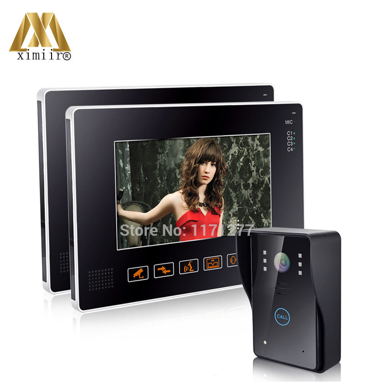 Wholesale 9 inch LCD Touch Key Color Wired Video Door Phone Intercom System Door Camera 2 Monitors Support 4 CCTV FREE SHIPPINGWholesale 9 inch LCD Touch Key Color Wired Video Door Phone Intercom System Door Camera 2 Monitors Support 4 CCTV FREE SHIPPING