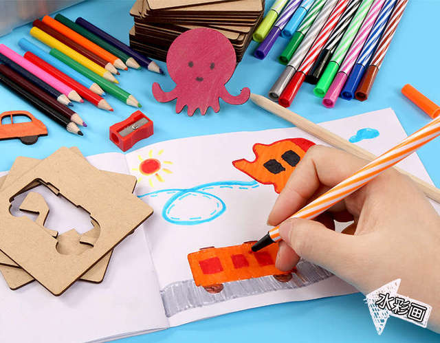 1Set Early Childhood Education Drawing Toys DIY Painting Funny Coloring Painted Graffiti Boards Puzzle 75