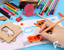 Best price 1Set Early Childhood Education Drawing Toys DIY Painting Funny Coloring Painted Graffiti Boards Puzzle Toys 75 Tablets for Kids
