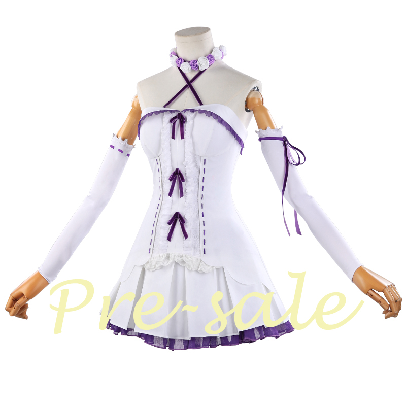 [Pre-sale]Anime Re: Life a Different World from Zero Figure Rem Birthday Cake Dress Uniform Cosplay costume 2018 NEW