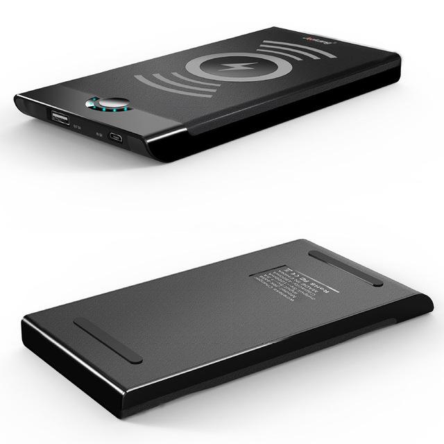 Qi cargador inalámbrico banco de la energía 4000 mAh Powerbank cargador Rápido Cargador de Baterías Externas Portátil para para Qi Teléfono Inteligente