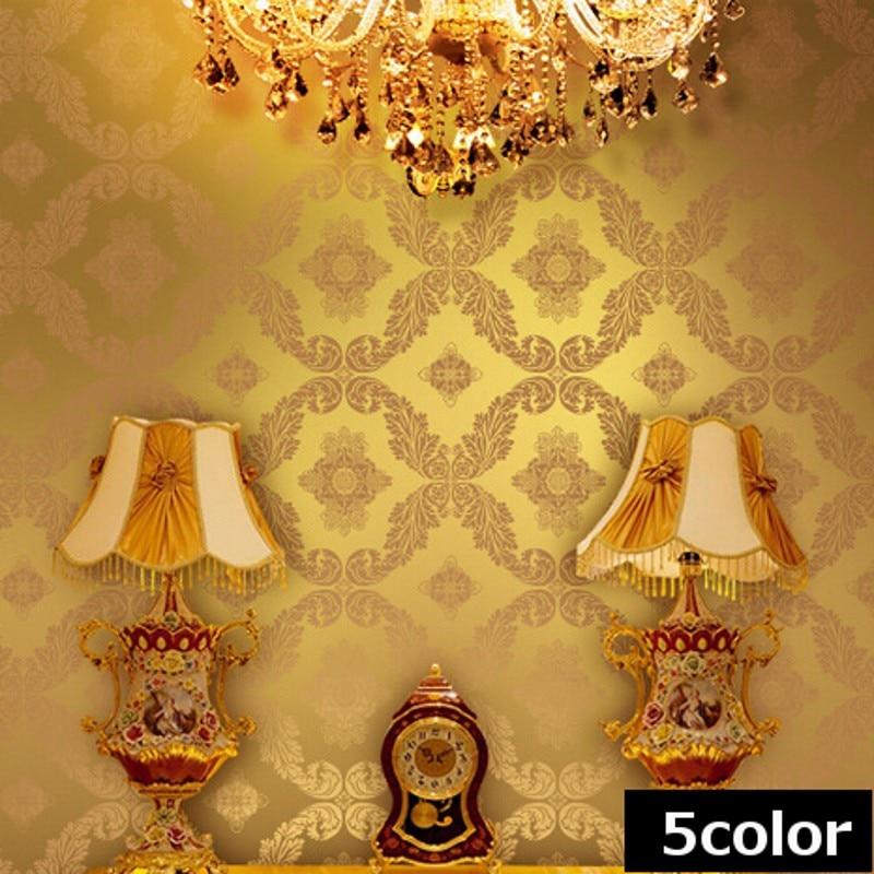 Vintage Gold Tapete-kaufen Billigvintage Gold Tapete Partien Aus ... Vintage Wohnzimmer Blau