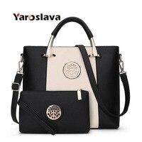 2 Bags/Set European And American Style Women Tote Bag Brand Designer Women Messenger Shoulder Bags Handbag And Purse LL179