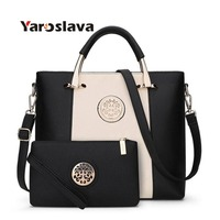 2 Bags/Set European And American Style Women Tote Bag Brand Designer Women Messenger Shoulder Bags Handbag And Purse LL179