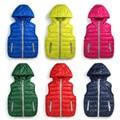 Quentes Crianças coletes coletes meninas/menino Outerwear & Casacos colete cor Da Marca de doces Crianças casacos de Outono/inverno do bebê Outerwear & Casacos