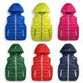 Warm Children vests waistcoats girls/boy Outerwear&Coats vest Brand candy color Kids jackets Autumn/winter baby Outerwear&Coats