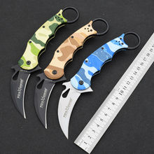 New Karambit Claw Knife FOX Folding Knife 5Cr13Mov Blade Survival Hunting Camping Tactical Knives Outdoor EDC Tools XX9