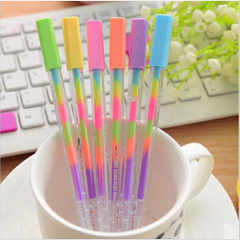DIY Cute Kawaii Water Color Chalk Paint Gel Pen For Kids Diary Decoration Scrapbooking Korean Stationery Office School Supplies kscraft cute unicorn transparent clear silicone stamps for diy scrapbooking card making kids fun decoration supplies