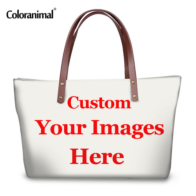 3f56187329b Coloranimal 3D Customize Your Personalized Pattern Bags Women Large  Handbags Tote Casual Ladies Travel Bag Female Shopping Bags
