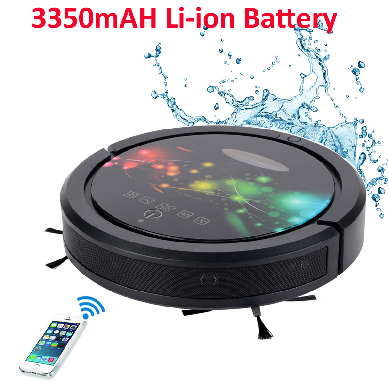Smartphone WIFI APP Control Wet&Dry Robot Vacuum Cleaner For Home With Water Tank/Sweeping,Vacuum,Sterilize,Wet And Dry Mop cleanmate robot vacuum cleaner qq6 mini cleaner ultrasonic app in wifi control dry wet mop water tank virtual wall
