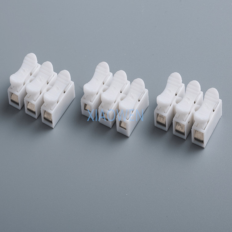 10Pcs/lot CH-2 3 Spring Wire Connector Splice LED Strip Light No Welding No Screw Connector Cable Crimp Clamp Terminal 2 3 Way