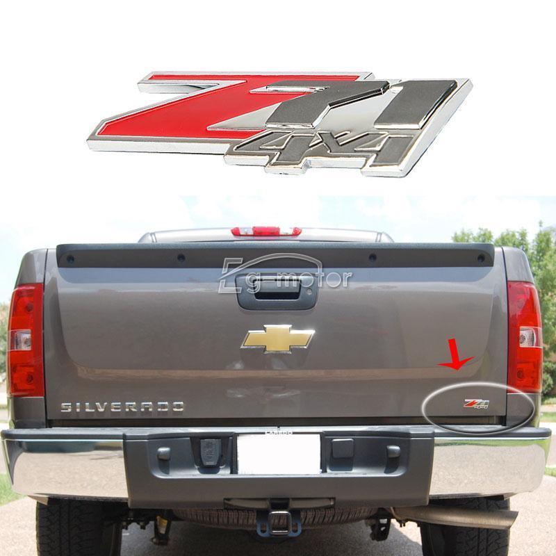 빨간 아 BS Z71 4x4 상징 기장은 Chevrolet Silverado 1500 / GMC - 외부 자동차 액세서리 - 사진 2