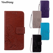 For Alcatel Idol 4 Case Luxury Soft Flip Leather Wallet Cover 6055 6055B Phone Bag For Alcatel One Touch Idol 4 Phone Case 5.2