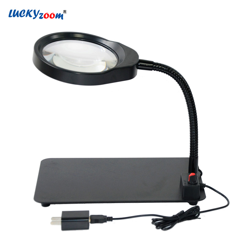 8X Desktop USB Magnifying Glass LED Illuminated Lamp Jewelry Magnifier Loupe Adjustable Hose Plug-in Reading  Watch Repair Lupa8X Desktop USB Magnifying Glass LED Illuminated Lamp Jewelry Magnifier Loupe Adjustable Hose Plug-in Reading  Watch Repair Lupa