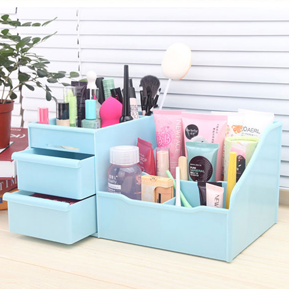 pretty plastic cosmetic jewelry desktop storage box watch. Black Bedroom Furniture Sets. Home Design Ideas