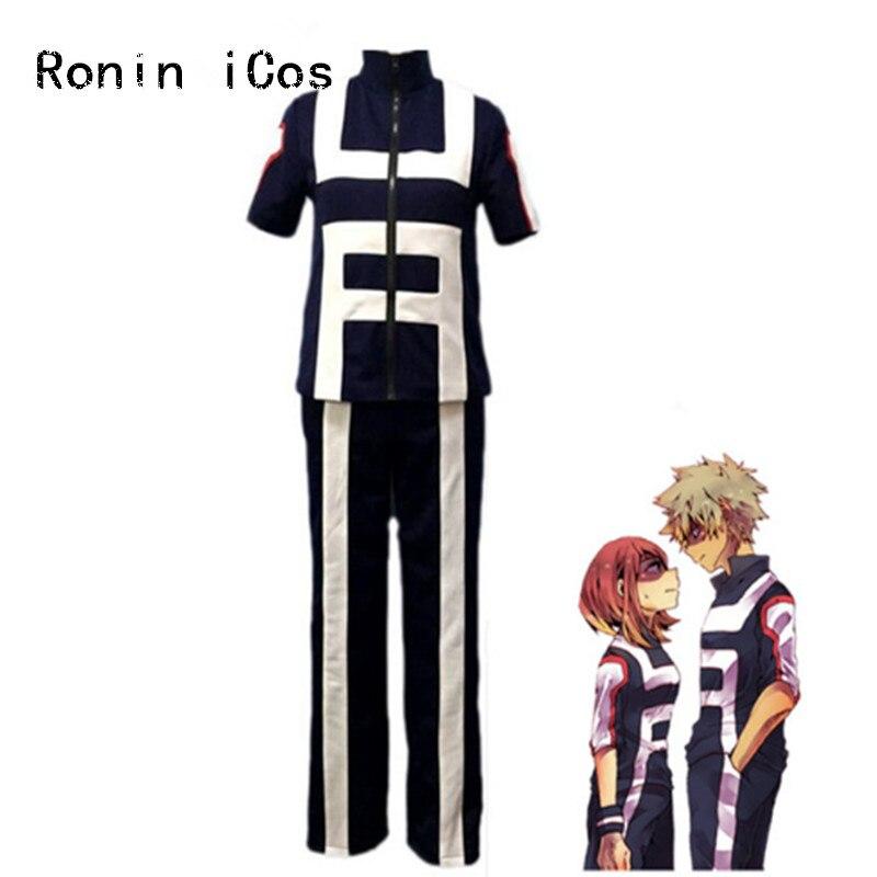 Boku no Hero Academia Bakugou Midoriya Iida School Sportswer Cosplay Costume