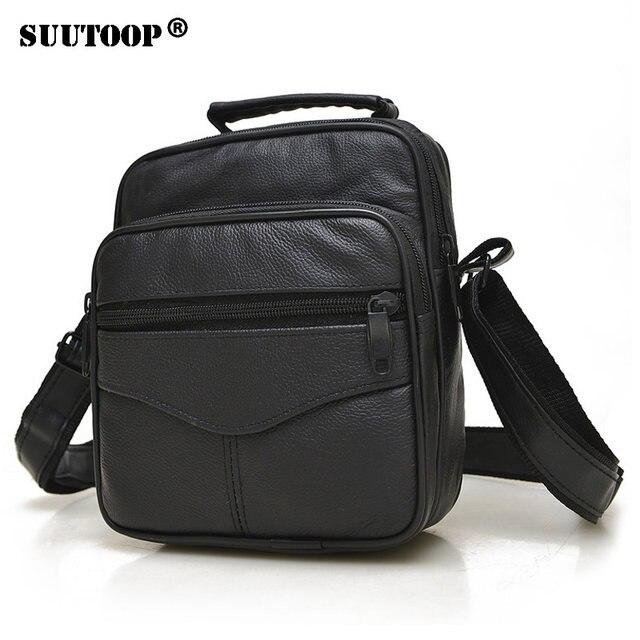 3672f70b14b Online Shop 2018 Man Vertical Genuine Leather bag Men Messenger ...