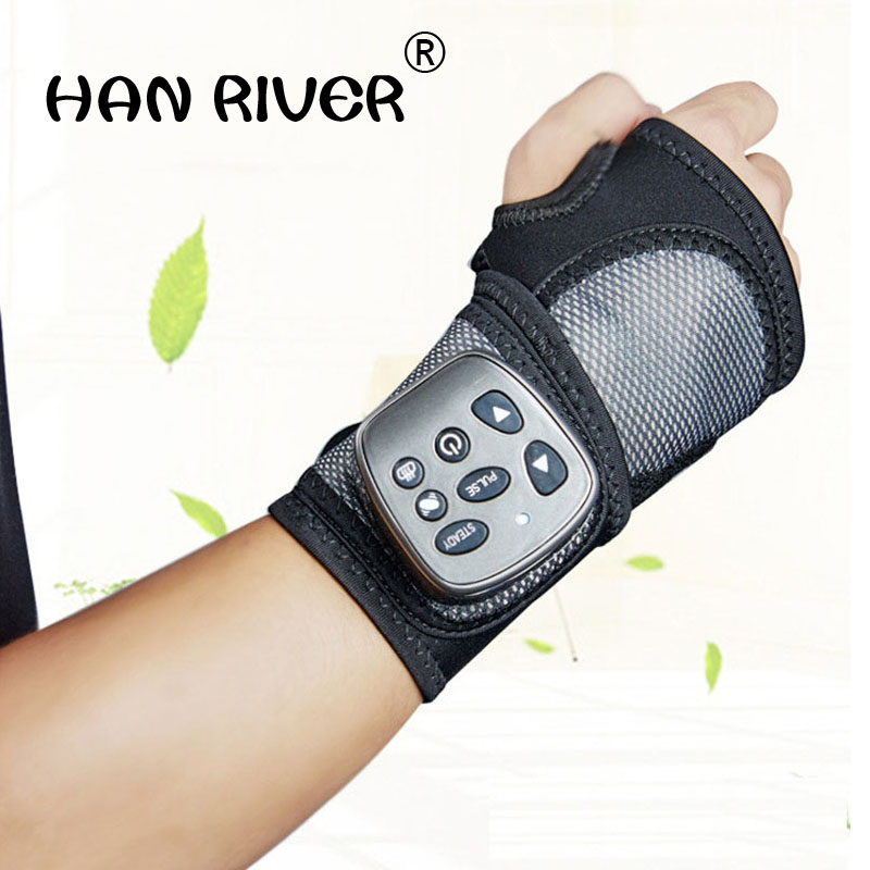 HANRIVER High quality heat massage wrist therapy instrument Relieve hand fatigue nursing vibration health wrist massage belt-in Relaxation Treatments from Beauty & Health    1