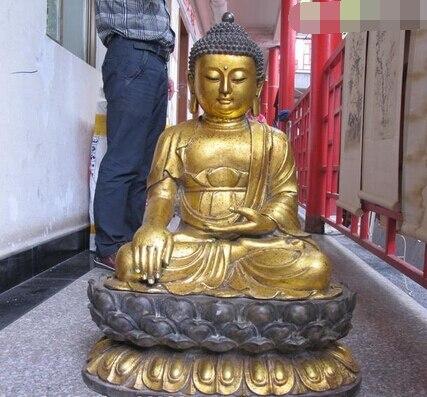 "Xiuli 002872 31 ""Tíbet Budismo Enorme Clásica Bronce gild Sakyamuni Tathagata Buda estatua"