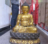 Xiuli 002872 31 Tíbet Budismo Enorme Clásica Bronce gild Sakyamuni Tathagata Buda estatua