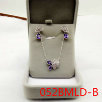 Nuevo patrón coreano collar de mariposa traje púrpura clavícula cadena joyería 052 bmld erding