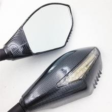 For Motorcycle Honda CBR 900 929 954 1000 RR F2 F3 CARBON LED Turn Signals Integrated Mirror