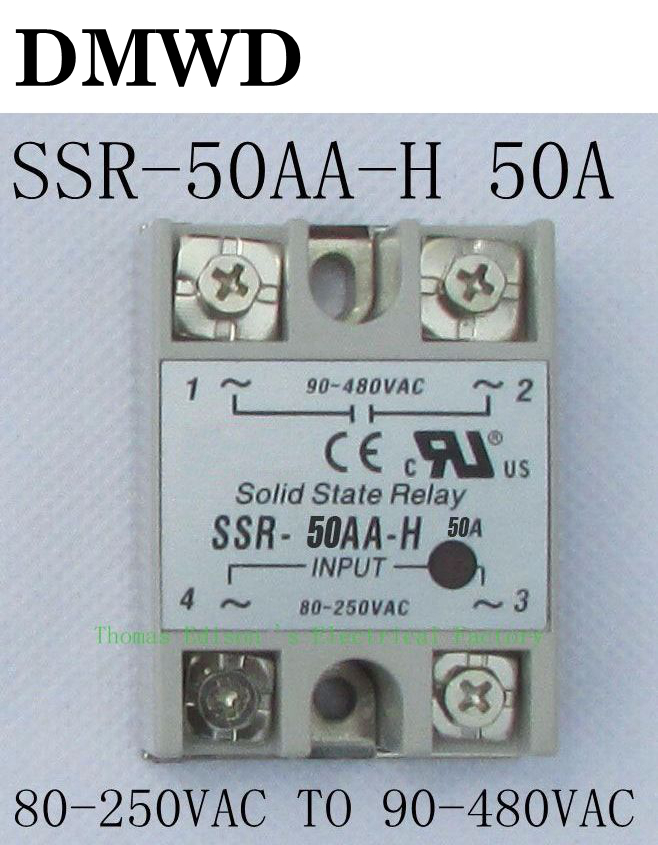 1pcs solid state relay SSR-50AA-H 50A SSR 50AA H AC TO AC relay solid state Resistance Regulator1pcs solid state relay SSR-50AA-H 50A SSR 50AA H AC TO AC relay solid state Resistance Regulator
