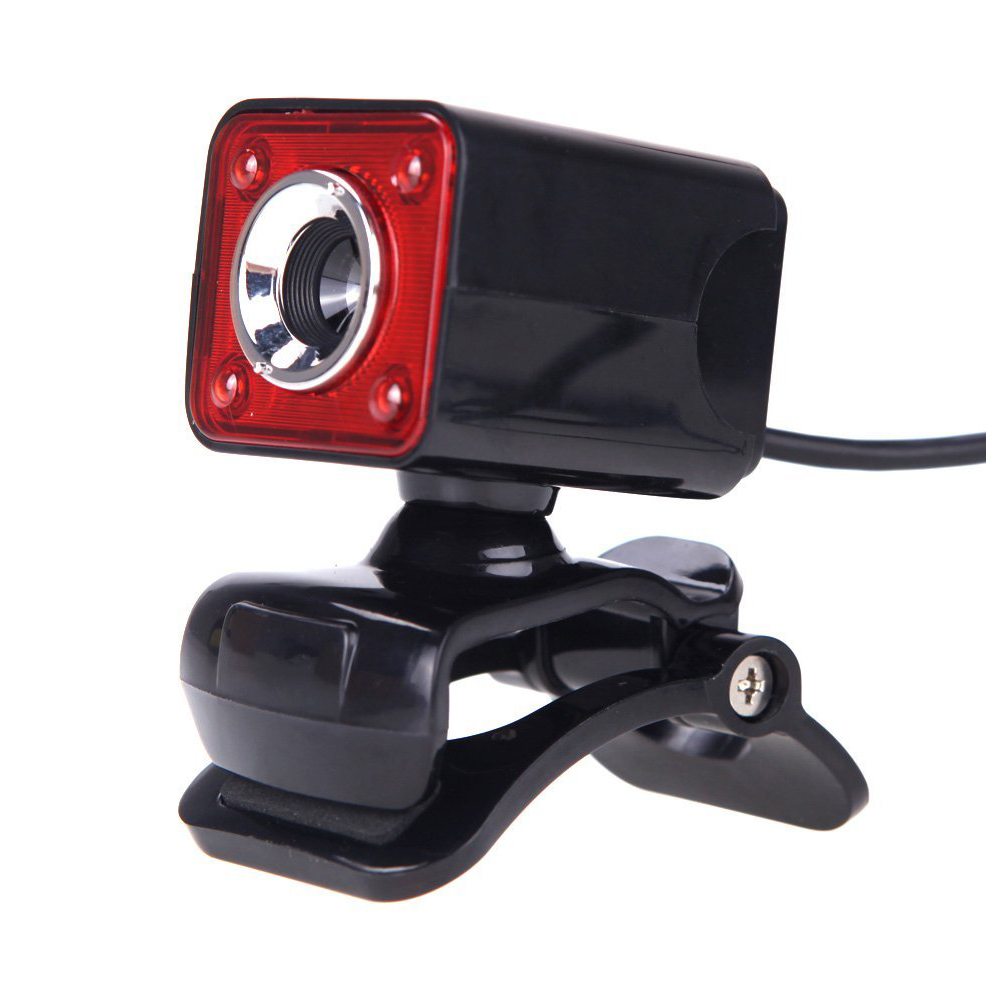 USB 2.0 12 Megapixel HD Camera Web Cam with MIC Clip-on Night Vision 360 Degree for Desk ...