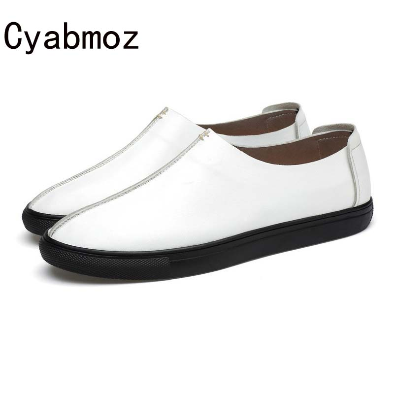 2018 new fashion style genuine leather loafers for men high quality moccasin casual spring shoes flats for driving leisure shoes new men s fashion casual shoes high quality genuine leather comfortable loafers for men flats shoes brand taima 40 45