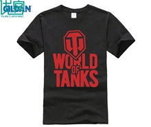 designer t shirt Fashion Men World of Tanks T Shirt New Printed Short Sleeve Cotton Shirts WOT Game T-Shirt