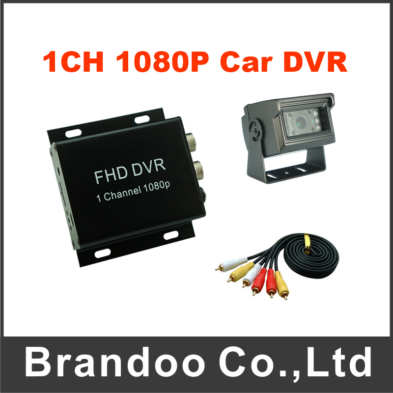 Wholesale 1CH 1080P Car DVR Mobile Vehicle MDVR For Taxi Including Waterproof Rear View Car Camera 1 channel 1080p ahd mobile car vehicle dvr kit including 5 meters video cable and rear view car camera
