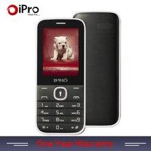 IPRO Marque Grand Clavier 2.4 Pouce Double Fente Pour Carte GSM déverrouiller Mobile Téléphone Avec Anglais Russe Espagnol Téléphone Enfants Parents cadeau