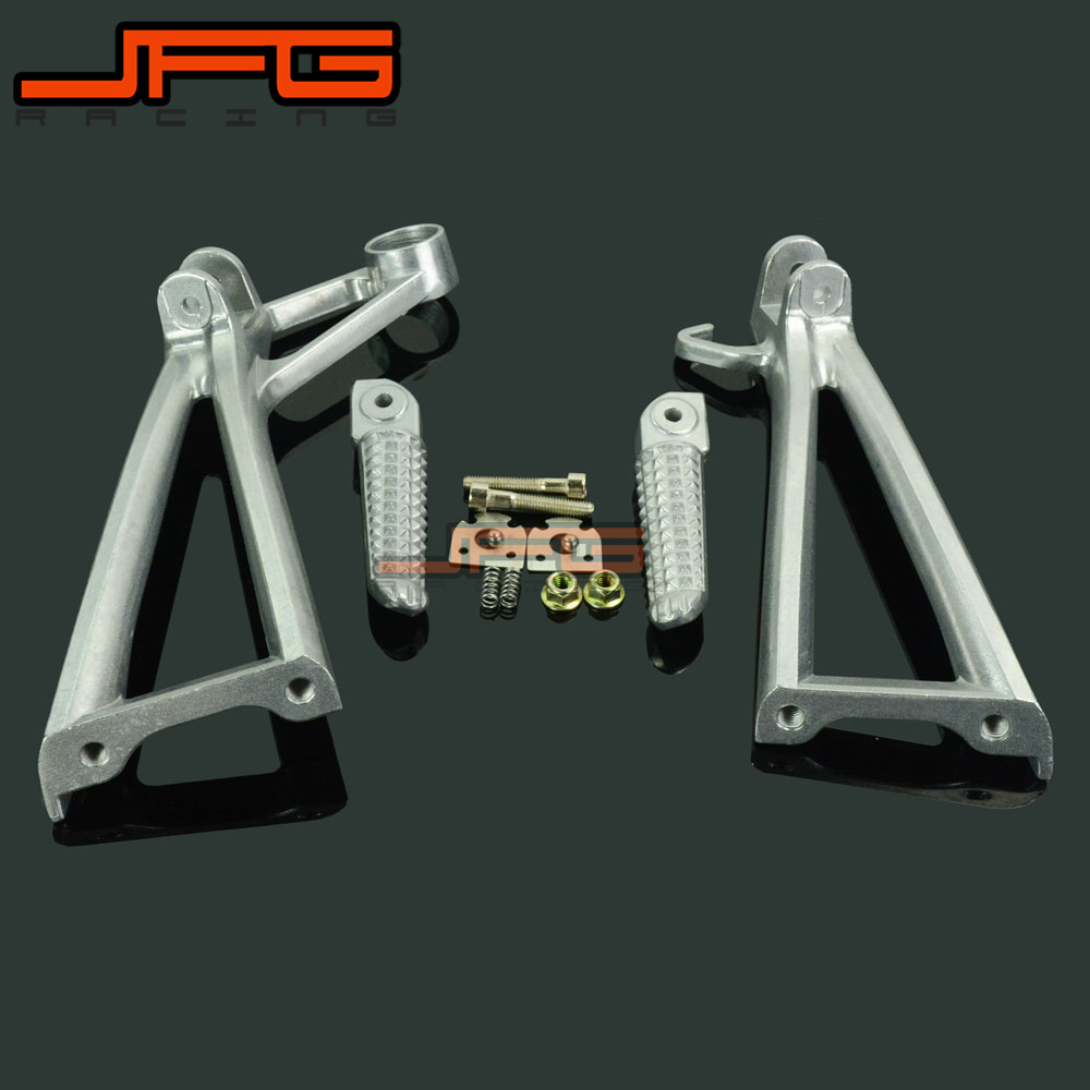 Footrests Rear Foot Pegs Pedals Rest Footpegs For YAMAHA YZF R6 2003-2005 YZF R6S 2006-2009 2006 2007 2008 2009 Motorcycle
