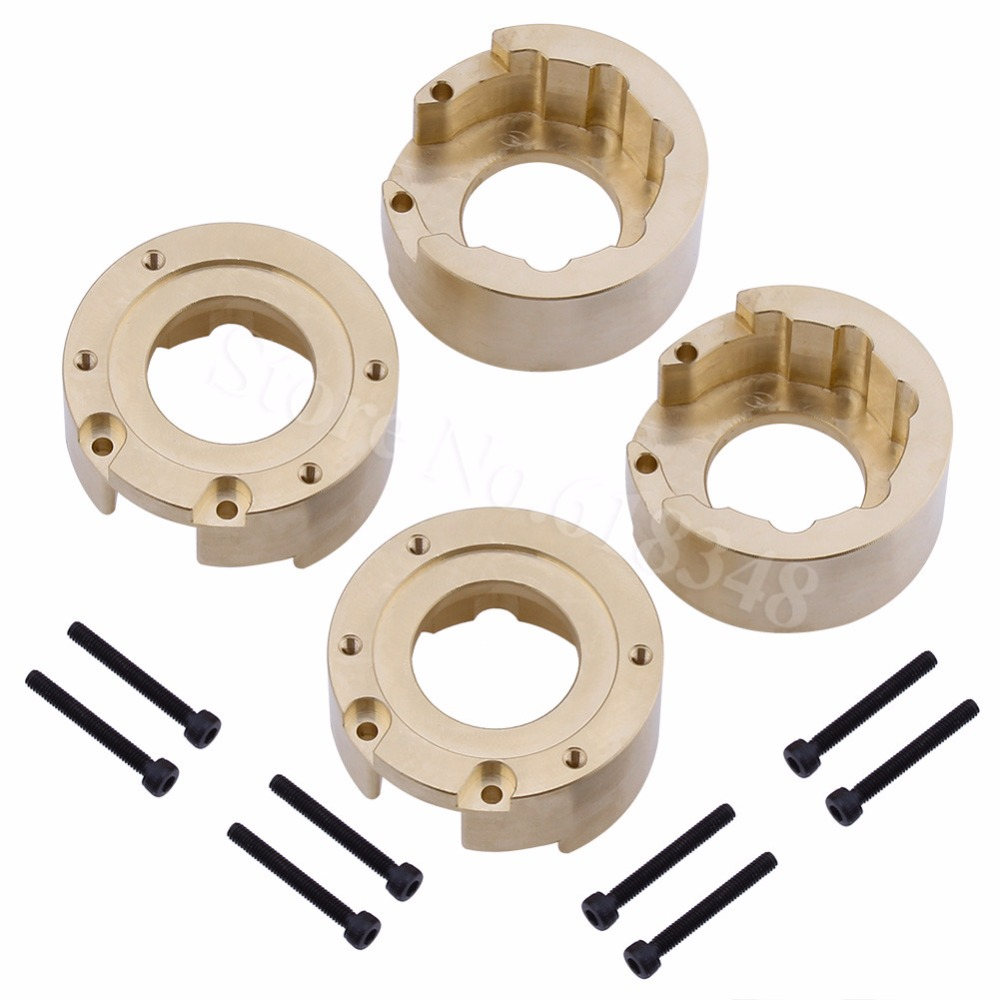 4pcs Heavy Brass Counterweight Steering Block Wheel Knuckle Axle for 1 10 RC Traxxas TRX 4