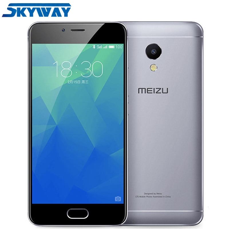Оригинал Meizu m5s 4 г LTE сотовый телефон 3 ГБ 16 ГБ mtk6753 Octa core 5.2 дюйма HD IPS отпечатков пальцев быстрая зарядка мобильного телефона